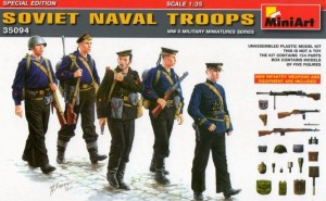 SOVIET NAVAL TROOPS (WITH WEAPONS & EQUIPMENT) 1/35 MINIART BRAND NEW