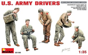 AMERICAN / U.S. ARMY DRIVERS - SET OF 5 FIGURES  #35180 1/35 MINIART