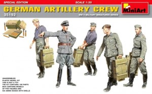 GERMAN ARTILLERY CREW WITH PaK AMMO & AMMO BOXES #35192 1/35 MINIART SPEC. EDIT.