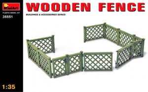 WOODEN FENCE 1/35 MINIART