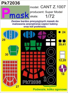 CANT Z.1007 CANOPY PAINTING MASK TO SUPER MODEL KIT