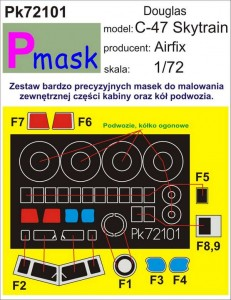 C-47 SKYTRAIN PAINTING MASK TO AIRFIX KIT