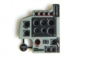 BLENHEIM MK I PHOTOETCHED, COLORED INSTRUMENT PANEL TO AIRFIX