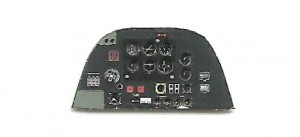 BEAUFIGHTER MK.X PHOTOETCHED, COLORED INSTRUMENT PANEL TO AIRFIX