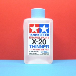 TAMIYA 80040 ENAMEL THINNER PAINT X-20 250 ml