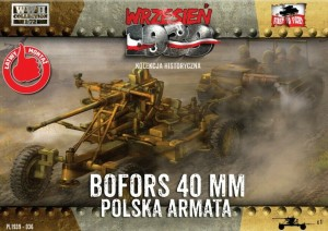 40mm BOFORS WZ.36 ANTI-AIRCRAFT GUN #36 1/72 FIRST TO FIGHT