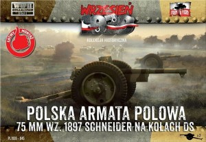 75mm WZ. 1897/37 SCHNEIDER  (POLISH ARMY MKGS - 1939)#045 1/72 FIRST TO FIGHT