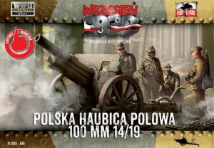 100mm SKODA WZ.1914/19 MID HOWITZER (POLISH MKGS 1939) #49 1/72 FIRST TO FIGHT